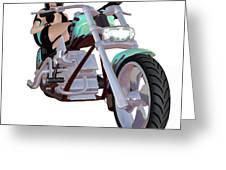 Green Bike Greeting Card