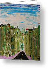 Green City Greeting Card by Mary Carol Williams