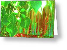Green Curtain Greeting Card by Juliana  Blessington