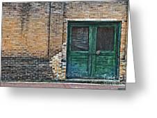 Green Doors Greeting Card