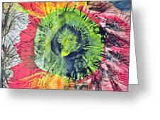 Green Dot Greeting Card