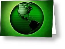 Green Earth Greeting Card