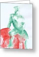 Green Figure Greeting Card
