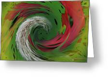Green Funnel Greeting Card