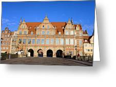 Green Gate In Gdansk Greeting Card