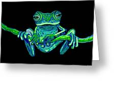 Green Ghost Frog Greeting Card