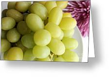 Green Grapes And Purple Mum Greeting Card