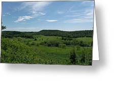 Green Hill Heaven Greeting Card