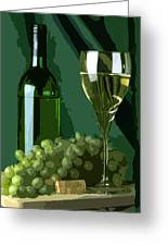 Green Is White Greeting Card by Elaine Plesser