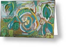 Green Greeting Card by Jay Manne-Crusoe