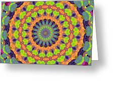 Green Kalidescope Greeting Card