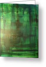 Green Meadow Greeting Card by Derya  Aktas