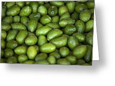 Green Olives Greeting Card by Joana Kruse