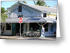 Green Parrot Bar In Key West Greeting Card