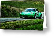 Green Porsche Greeting Card