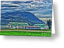 Green Roofed Barn-hdr Greeting Card