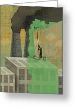 Greenwashing Greeting Card