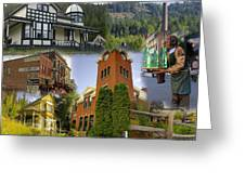 Greenwood Collage With Geppetto Greeting Card
