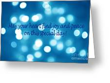 Greeting Card Blue With White Lights Greeting Card