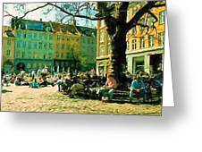 Grey Brothers Square I Greeting Card