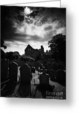 Greyabbey Abbey And Graveyard Cemetary County Down Ireland Greeting Card