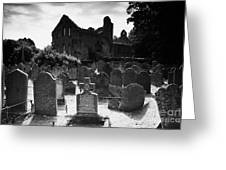 Greyabbey Abbey Ruin Graveyard Cemetary Ireland Greeting Card