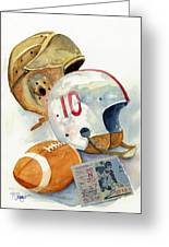 Gridiron Ghosts Greeting Card