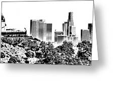 Griffith And Los Angeles Etched Greeting Card