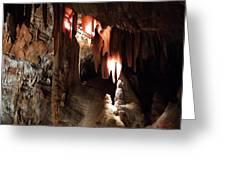 Grotte Magdaleine South France Region Ardeche Greeting Card