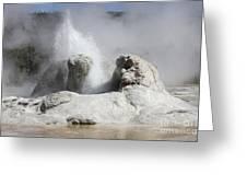 Grotto Geyser Eruption, Upper Geyser Greeting Card