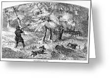 Grouse Hunting, 1855 Greeting Card