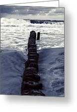 Groyne Greeting Card by Joana Kruse