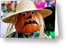 Grumpy Pumpkin Greeting Card