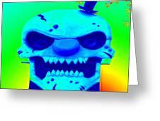 Grunge City Demon 1 Greeting Card