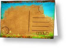 Grunge Color On Old Postcard Greeting Card by Setsiri Silapasuwanchai