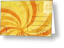 Grunge Ray On Old Postcard Greeting Card