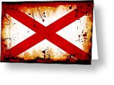 Grunge Style Alabama Flag Greeting Card