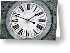 Grungy Clock Greeting Card
