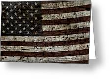 Grungy Wooden Textured Usa Flag2 Greeting Card