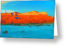 Guadalupe Mountains Sunset Greeting Card