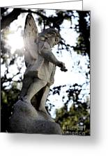 Guardian Angel With Light From Above Greeting Card