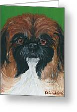 Gucci The Peke Greeting Card