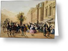 Guerard: Cafe Tortoni, 1856 Greeting Card