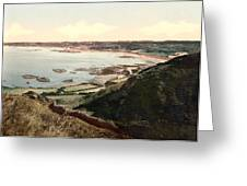 Guernsey - Rocquaine Bay - Channel Islands - England Greeting Card