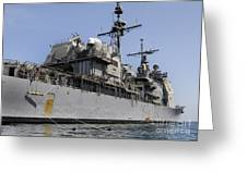 Guided Missile Cruiser Uss Bunker Hill Greeting Card
