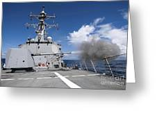 Guided-missile Destroyer Uss Pinckney Greeting Card