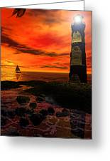 Guiding Light - Lighthouse Art Greeting Card