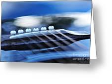 Guitar Abstract 4 Greeting Card