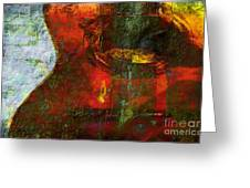 Guitar ..abstract  Greeting Card