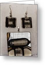 Guitar Glass Tile Set Greeting Card